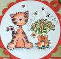 Stampavie Stamps - Coco Cat Flowers