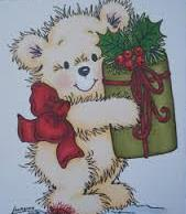 Stampavie Stamps - Merry Bear