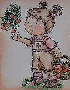 Stampavie Stamps - Picking Cherries