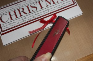 Red Ribbon  Christmas Card Craft Ideas   Project 1