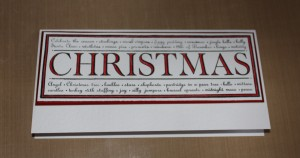 Stamped image mounted on card | Christmas Card Craft Ideas | project 1