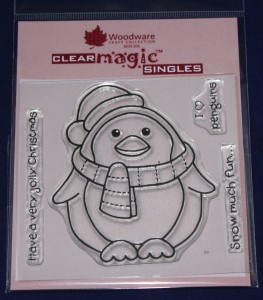 Woodware Chubby Penguin Clear Magic Craft Stamp @ Craft-House