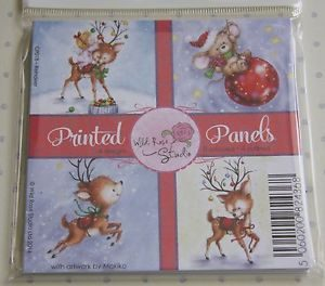 Wild Rose Studio 'Reindeer' Christmas Printed Panels CP018